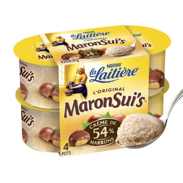 Photo Mousse crème de marrons LA LAITIERE