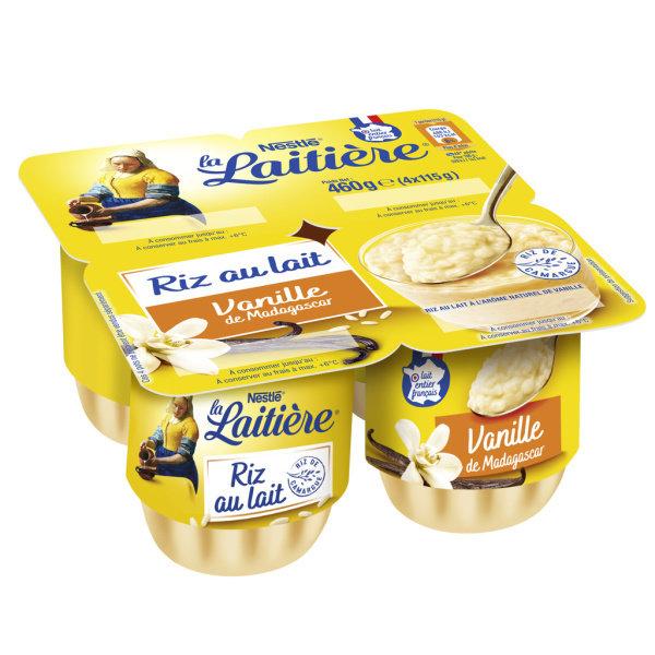 Photo Riz au lait vanille  marque nationale