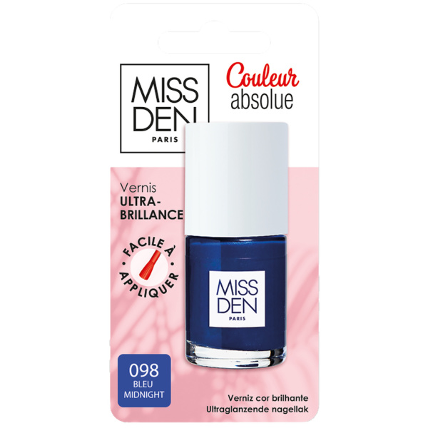 Photo Vernis à ongles bleu midnight MISS DEN