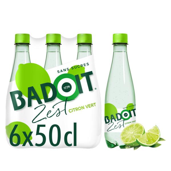 Photo Badoit citron vert à l'eau minérale Badoit Arômatisée