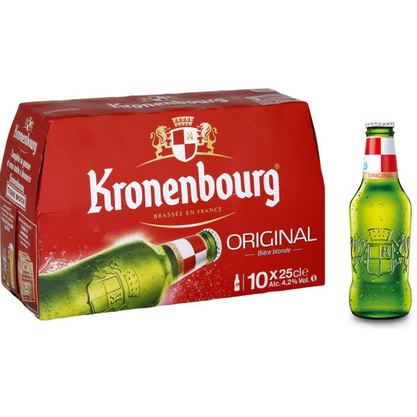Photo Bière blonde Kronenbourg