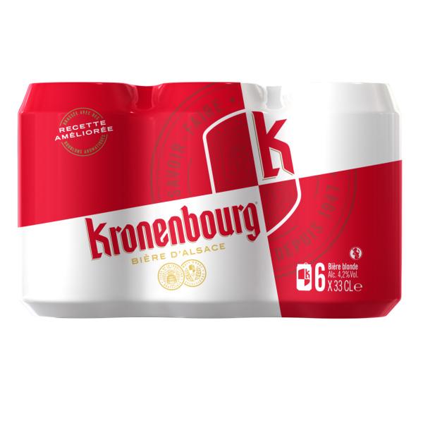 Photo Bière blonde Kronenbourg
