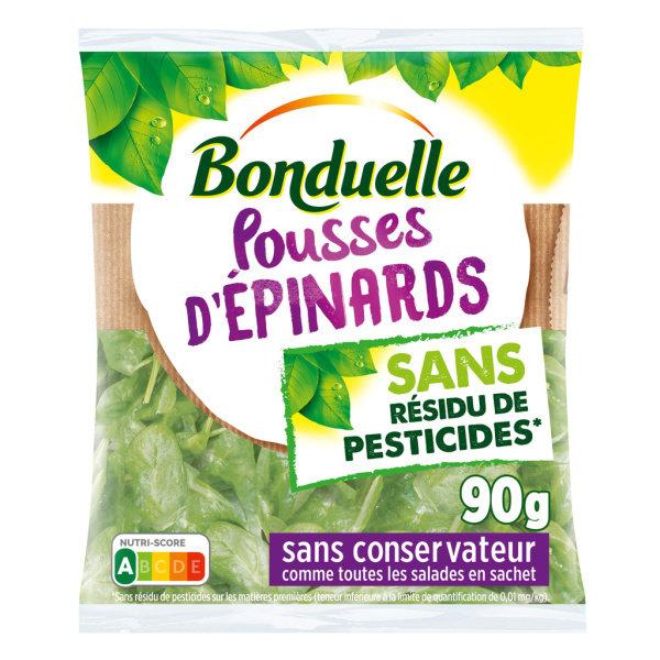 Photo Salade d'épinards prête à l'emploi Bonduelle