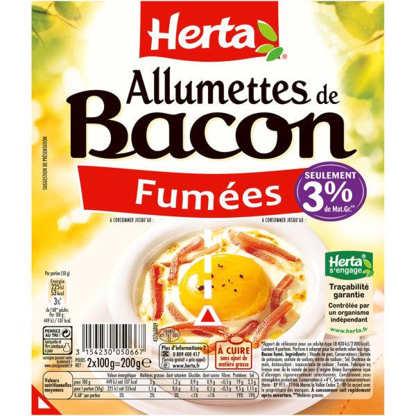 Photo Allumettes de bacon fumé HERTA