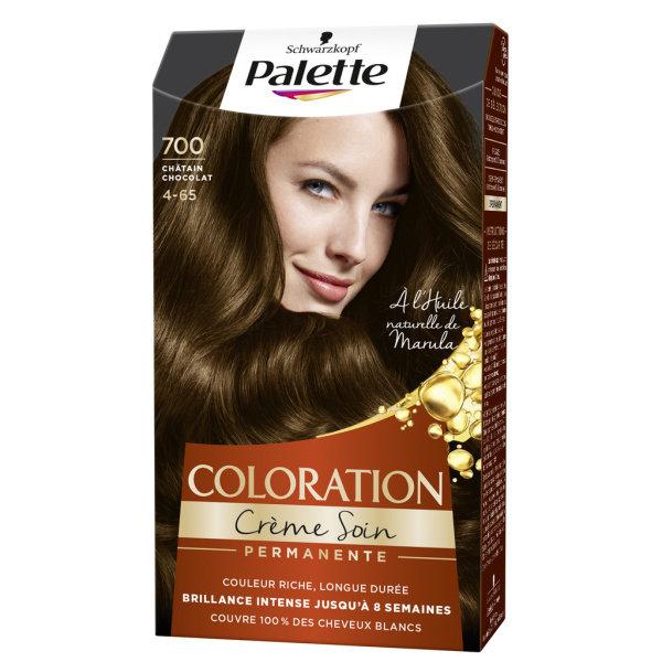Photo Coloration châtain chocolat SCHWARZKOPF PALETTE