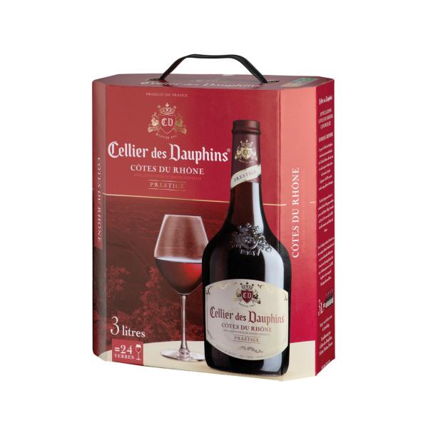 Photo Vin rouge vallée du rhône Celliers des dauphins