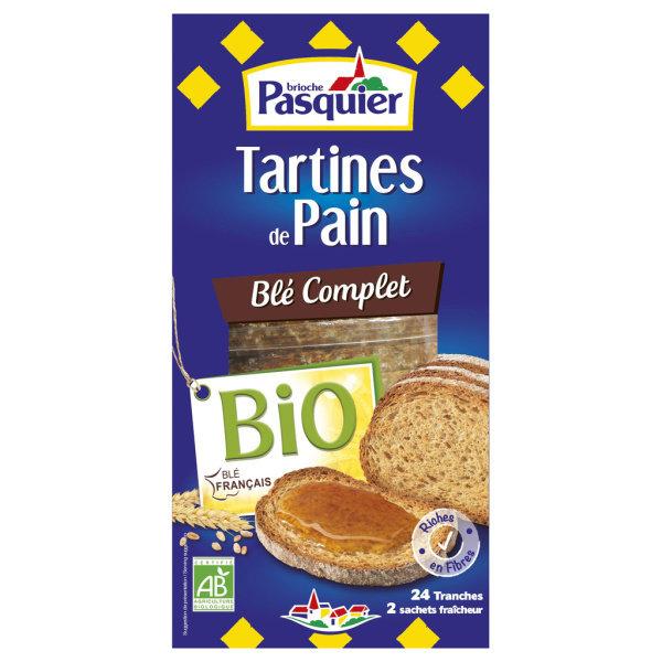 Photo Tartine de pain blé complet bio Brioche Pasquier