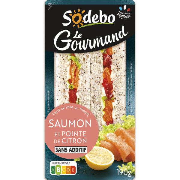 Photo Sandwich pain de mie et saumon Sodebo