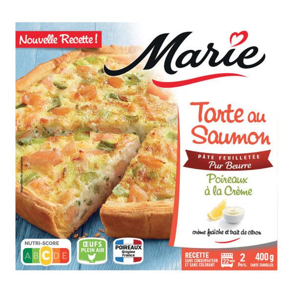 Photo Tarte saumon poireaux à la crème Marie
