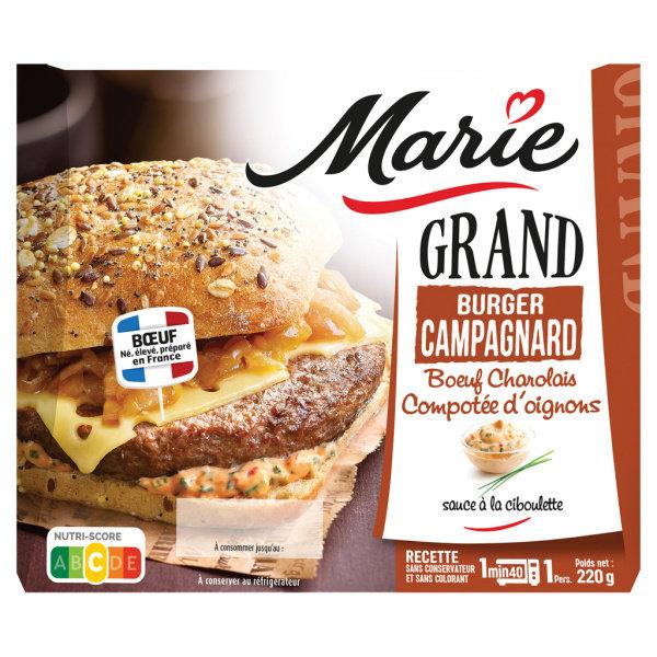 Photo Grand burger campagnard Marie
