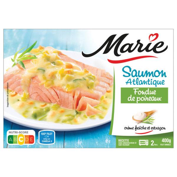 Photo Saumon fondue de poireau Marie