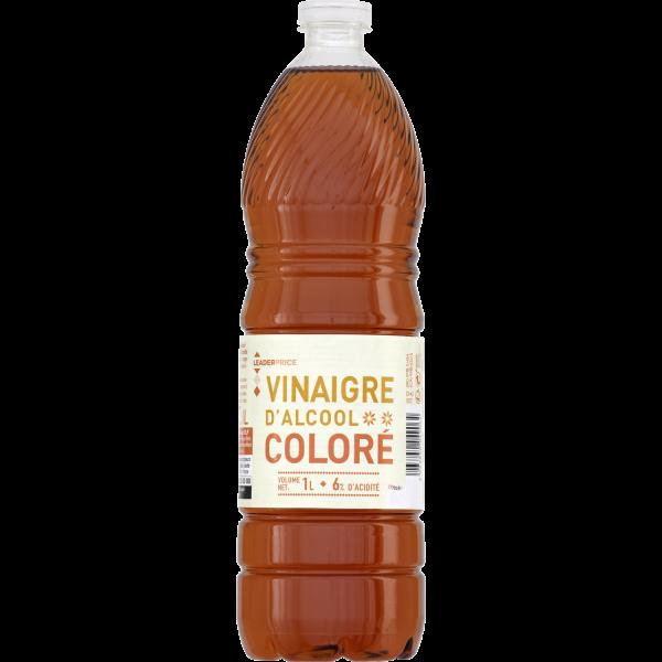 Photo Vinaigre d'alcool coloré Leader price