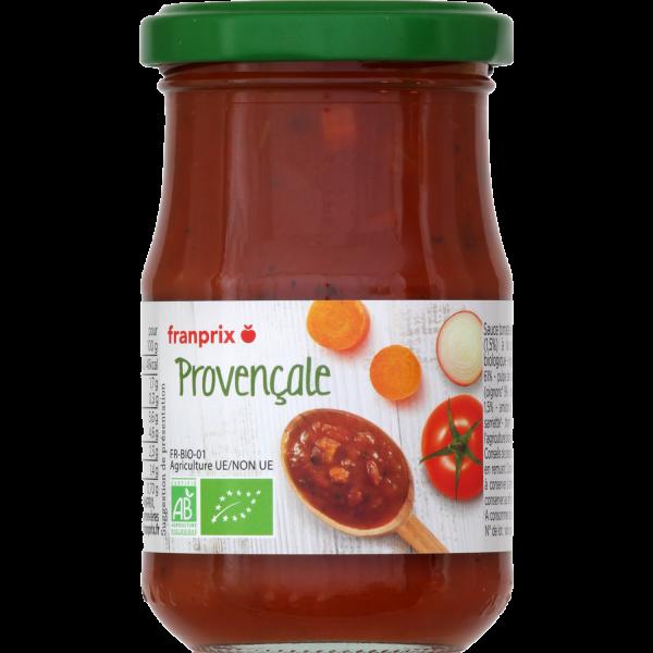 Photo Sauce tomate provençale bio franprix