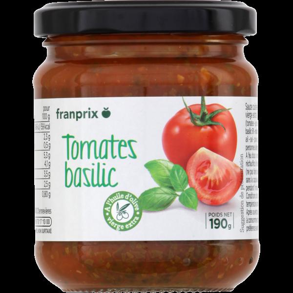 Photo Sauce tomate basilic franprix