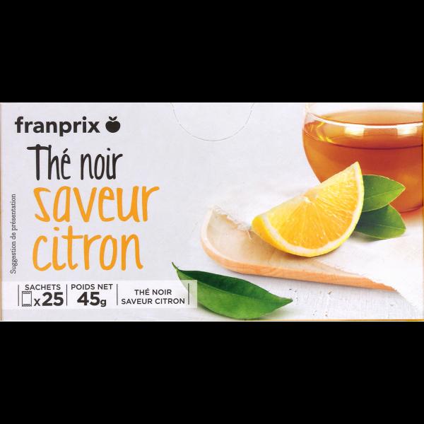 Photo Thé noir aromatisé citron franprix