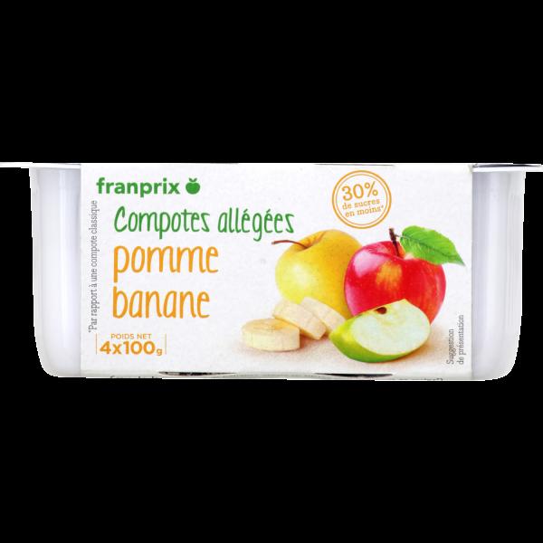 Photo Compote pomme banane franprix