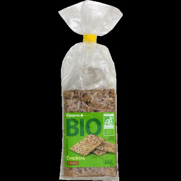 Photo Crackers aux 3 graines bio franprix