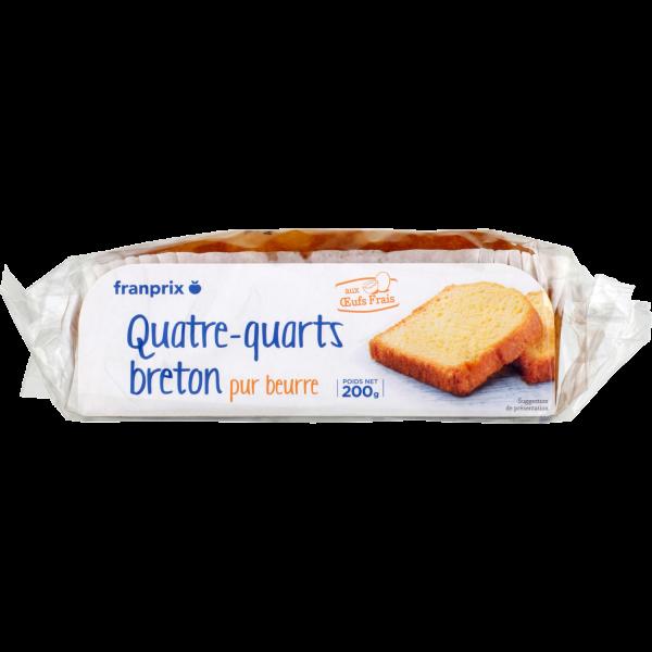 Photo Quatre-quarts pur beurre franprix