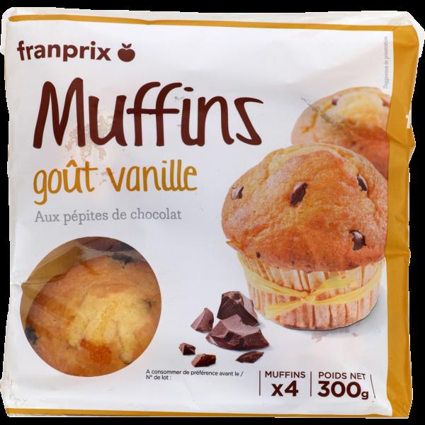 Photo Muffins vanille pépites choco franprix
