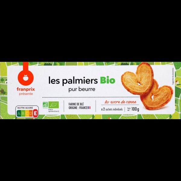 Photo Palmiers au beurre bio franprix