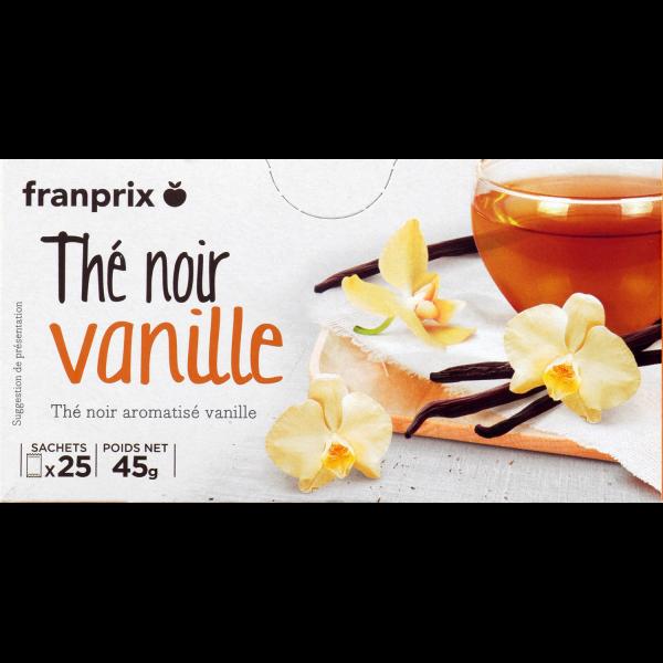 Photo Thé noir aromatisé vanille franprix