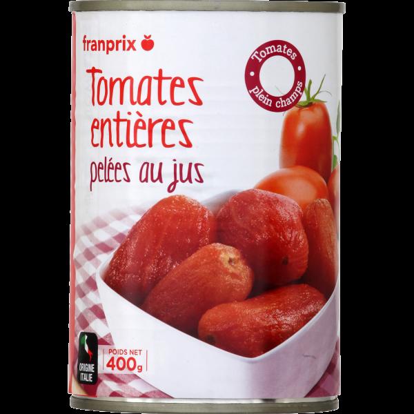 Photo Tomate entière pelée franprix