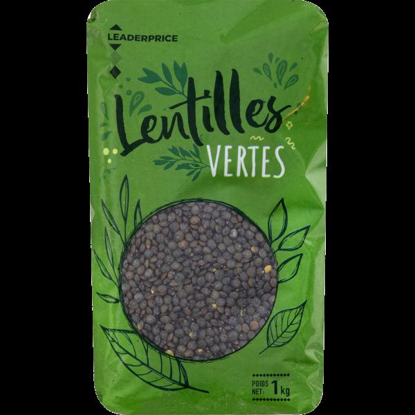 Photo Lentilles vertes  Leader price