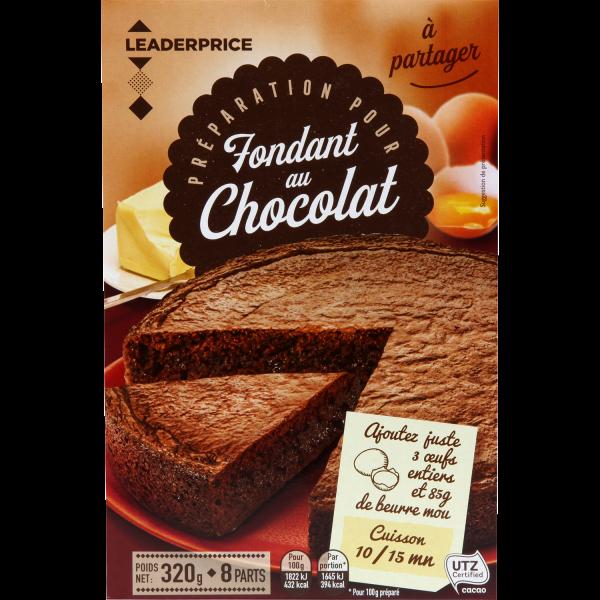 Photo Préparation pour fondant au chocolat  Leader price