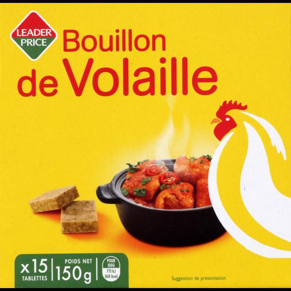 Photo Bouillon de volaille Leader price
