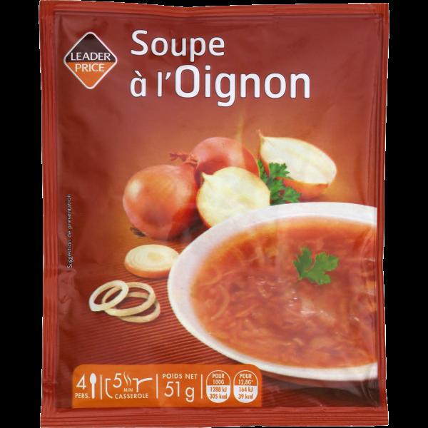 Photo Soupe à l'oignon Leader price