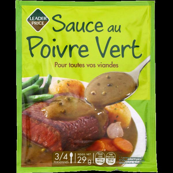 Photo Sauce au poivre vert Leader price