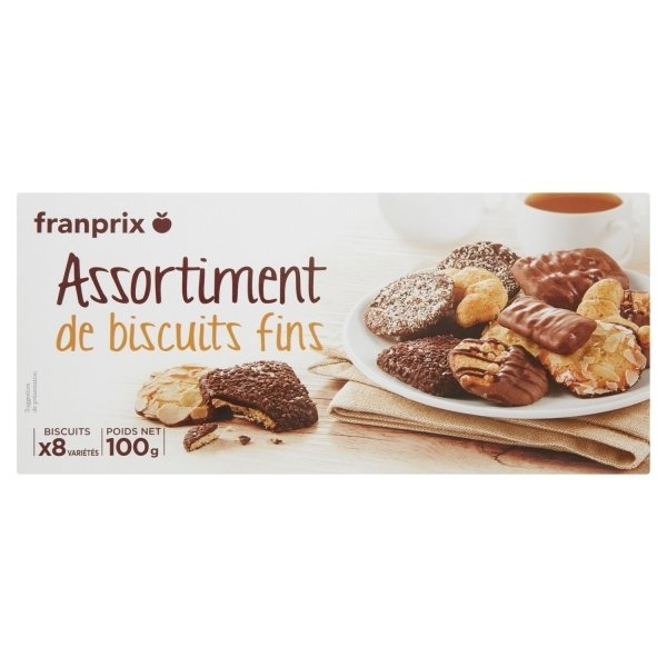 Photo Assortiment de biscuits fins franprix