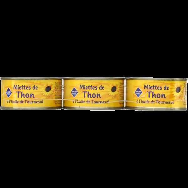 Photo Miettes de thon huile de tournesol Leader price