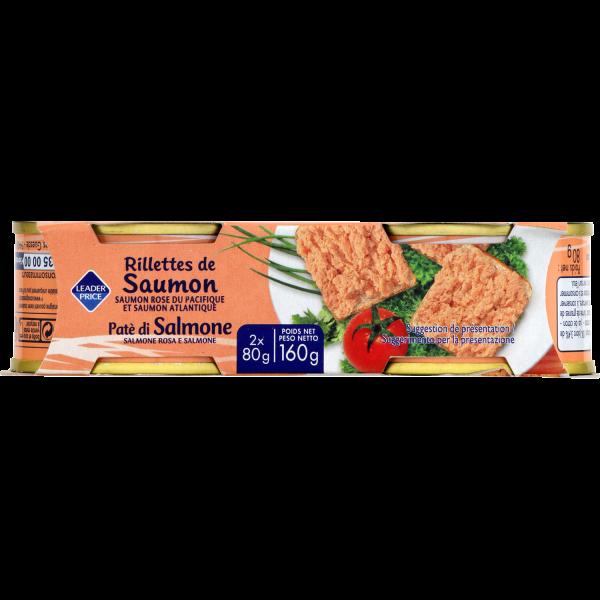 Photo Rillettes de saumon Leader price