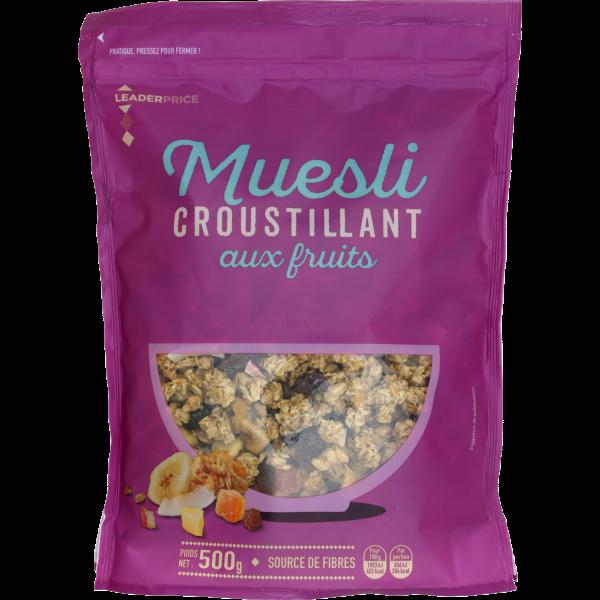 Photo Muesli fruits Leader price