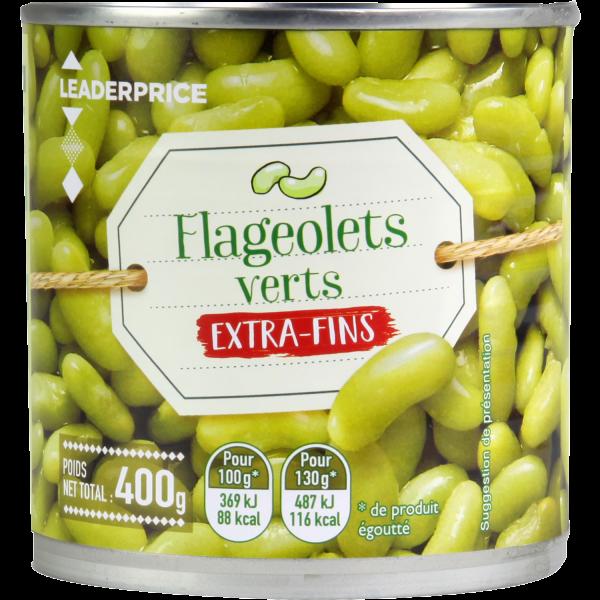 Photo Flageolets verts extra-fins Leader price