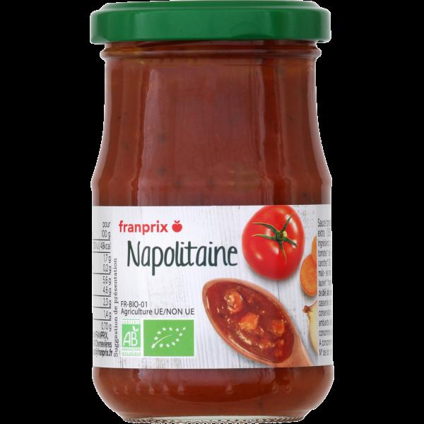 Photo Sauce napolitaine bio franprix