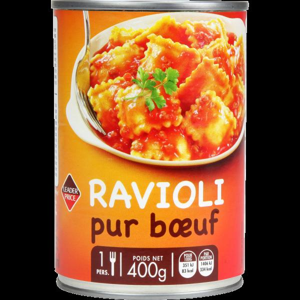 Photo Ravioli pur boeuf Leader price