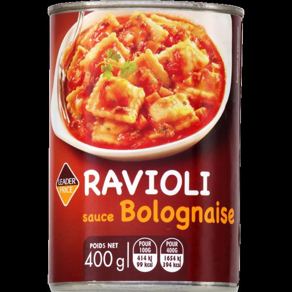 Photo Ravioli sauce bolognaise  Leader price