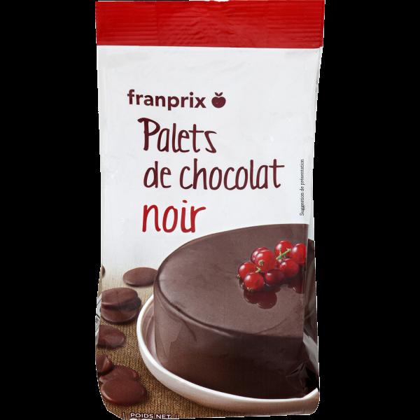 Photo Chocolat noir à patisser franprix