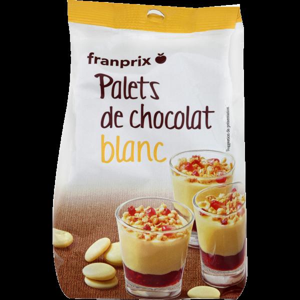 Photo Chocolat à patisser blanc franprix