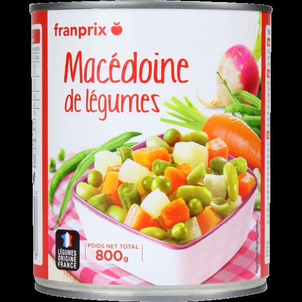 Photo Macédoine de légumes franprix