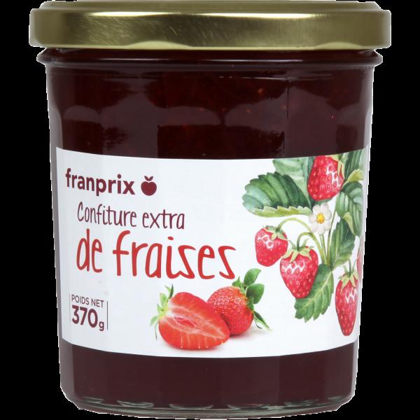 Photo Confiture de fraises franprix