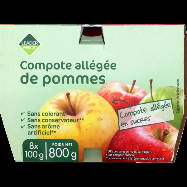 Photo Compote allégée de pommes Leader price