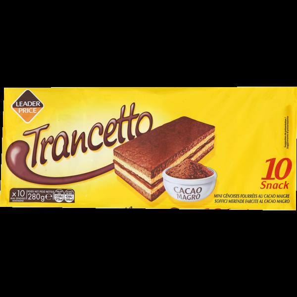 Photo Mini génoises fourrées cacao Leader price