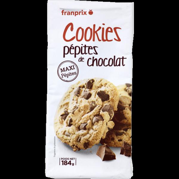 Photo Cookies pépites de chocolat franprix