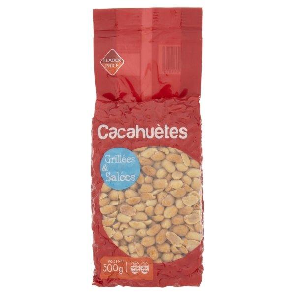 Photo Cacahuètes  grillées et salées Leader price