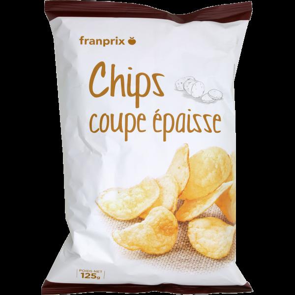 Photo Chips salées coupe épaisse franprix