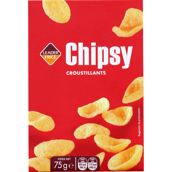 Photo Chipsy pétales salés Leader price