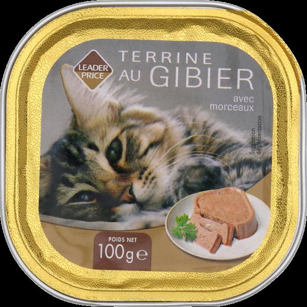 Photo Aliment pour chat au gibier Leader price